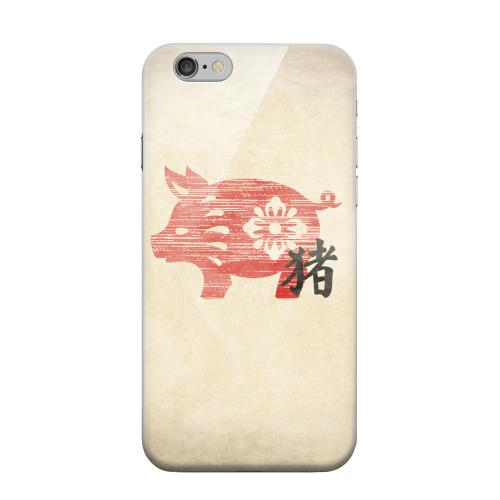 Geeks Designer Line (GDL) Apple iPhone 6 Matte Hard Back Cover - Grunge Pig