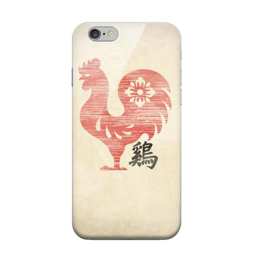 Geeks Designer Line (GDL) Apple iPhone 6 Matte Hard Back Cover - Grunge Rooster