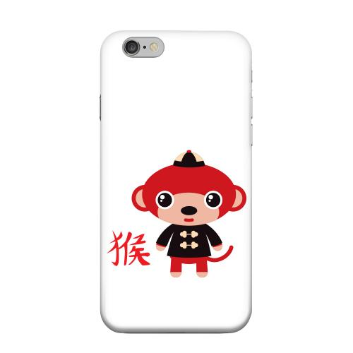 Geeks Designer Line (GDL) Apple iPhone 6 Matte Hard Back Cover - Monkey on White