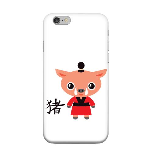 Geeks Designer Line (GDL) Apple iPhone 6 Matte Hard Back Cover - Pig on White
