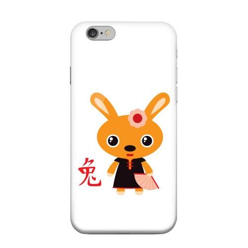 Geeks Designer Line (GDL) Apple iPhone 6 Matte Hard Back Cover - Rabbit on White