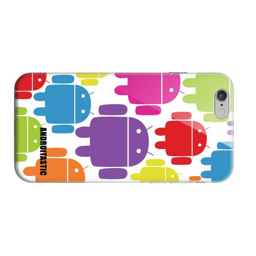 Geeks Designer Line (GDL) Apple iPhone 6 Matte Hard Back Cover - Rainbow Robot Design