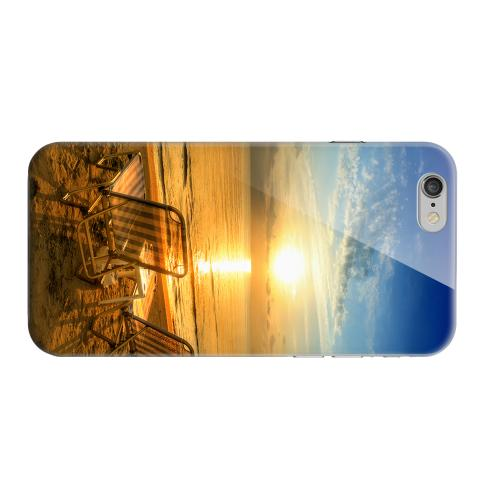 Geeks Designer Line (GDL) Apple iPhone 6 Matte Hard Back Cover - Beach Chair Sunrise