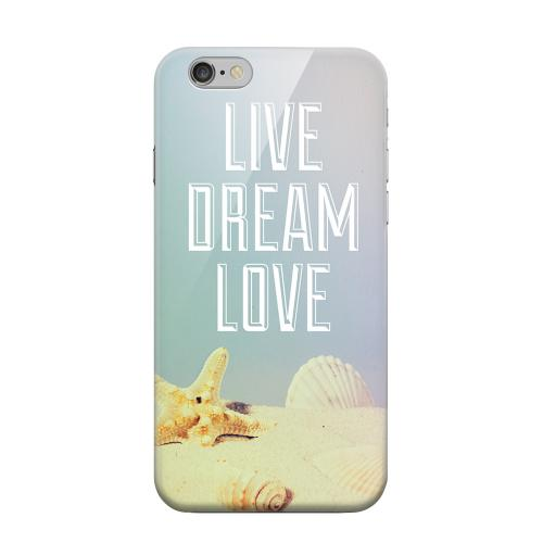 Geeks Designer Line (GDL) Apple iPhone 6 Matte Hard Back Cover - Live Dream Love