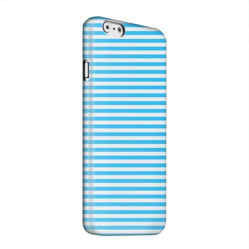 Geeks Designer Line (GDL) Apple iPhone 6 Matte Hard Back Cover - Blue/ White Stripes