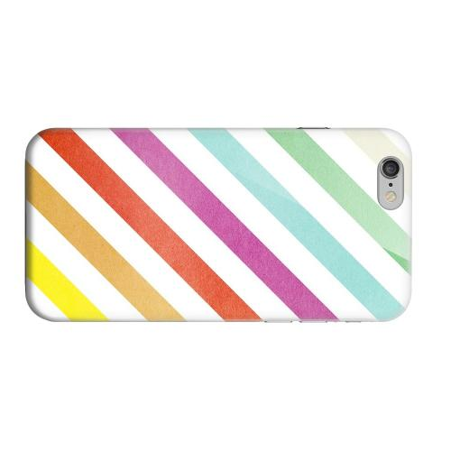Geeks Designer Line (GDL) Apple iPhone 6 Matte Hard Back Cover - Dirty Diagonal Multi-Color