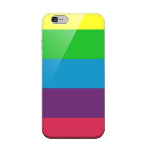Geeks Designer Line (GDL) Apple iPhone 6 Matte Hard Back Cover - Rainbow Candy Stripes