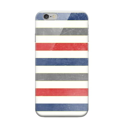 Geeks Designer Line (GDL) Apple iPhone 6 Matte Hard Back Cover - Stripey Blue/ Red