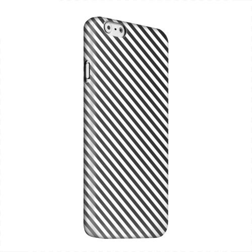 Geeks Designer Line (GDL) Apple iPhone 6 Matte Hard Back Cover - Thin Black/ White Diagonal