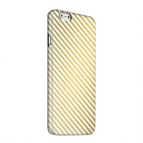 Geeks Designer Line (GDL) Apple iPhone 6 Matte Hard Back Cover - Thin Golden Diagonal