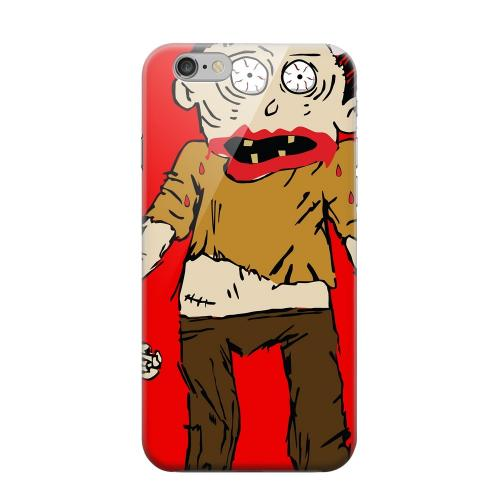 Geeks Designer Line (GDL) Apple iPhone 6 Matte Hard Back Cover - Zombie on Red
