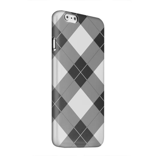 Geeks Designer Line (GDL) Apple iPhone 6 Matte Hard Back Cover - Black/ White/ Gray Plaid
