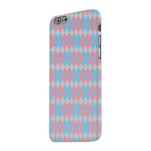 Geeks Designer Line (GDL) Apple iPhone 6 Matte Hard Back Cover - Blue/ Pink Embroidery
