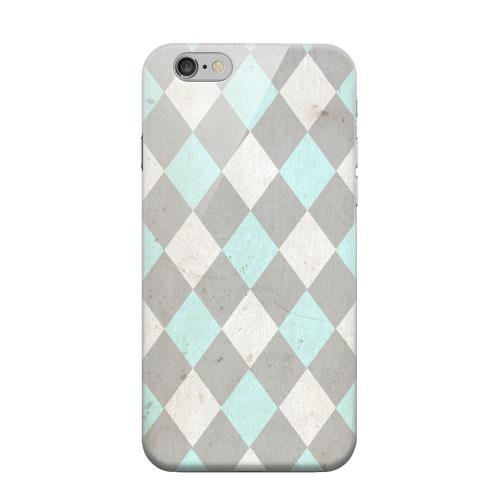 Geeks Designer Line (GDL) Apple iPhone 6 Matte Hard Back Cover - Grunge Pink/ Blue/ Gray Argyle