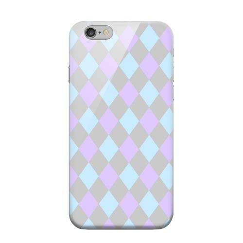 Geeks Designer Line (GDL) Apple iPhone 6 Matte Hard Back Cover - Gray/ Blue/ Purple Argyle