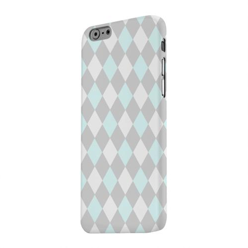 Geeks Designer Line (GDL) Apple iPhone 6 Matte Hard Back Cover - Pink/ Blue/ Gray Argyle