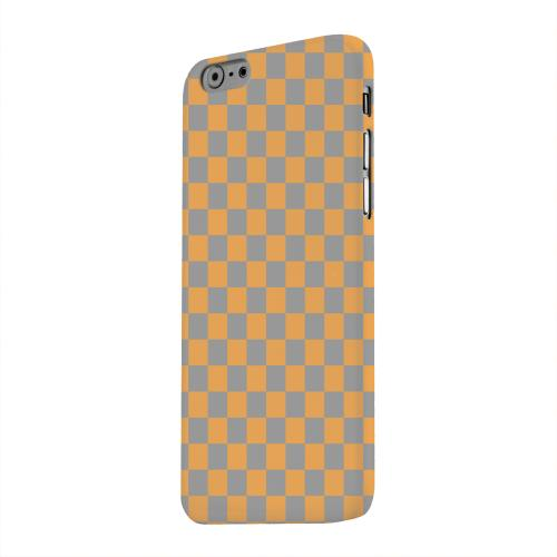 Geeks Designer Line (GDL) Apple iPhone 6 Matte Hard Back Cover - Orange/ Gray