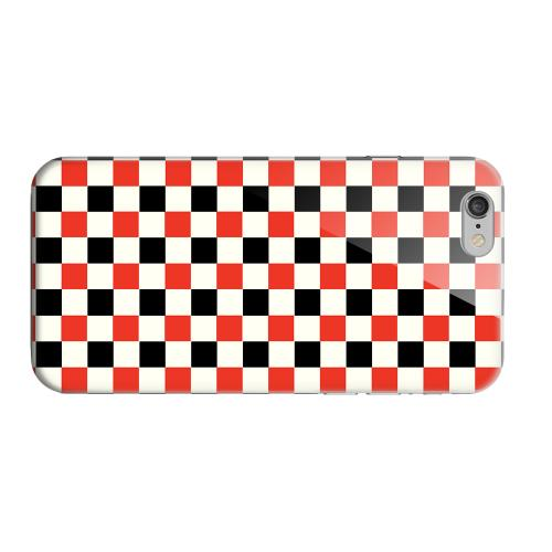 Geeks Designer Line (GDL) Apple iPhone 6 Matte Hard Back Cover - Red/ Black on Cream