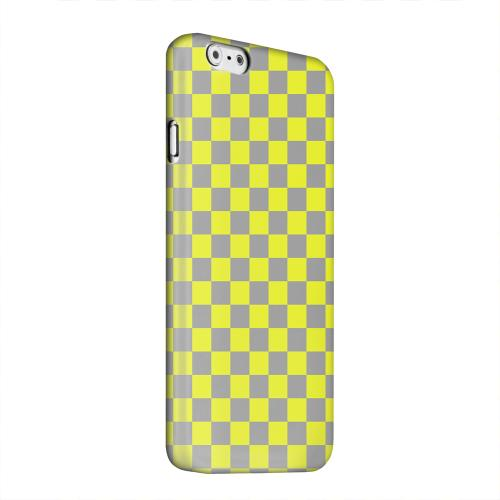 Geeks Designer Line (GDL) Apple iPhone 6 Matte Hard Back Cover - Yellow/ Gray