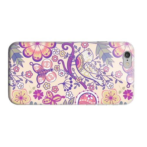 Geeks Designer Line (GDL) Apple iPhone 6 Matte Hard Back Cover - Birds, Hearts & Flowers