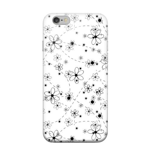 Geeks Designer Line (GDL) Apple iPhone 6 Matte Hard Back Cover - Black/ White Floral