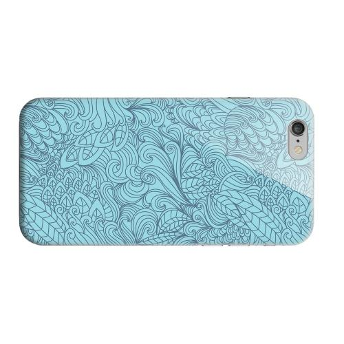 Geeks Designer Line (GDL) Apple iPhone 6 Matte Hard Back Cover - Blue Doodle Lines