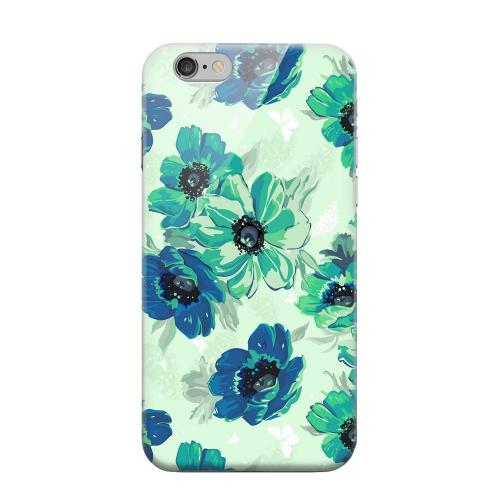 Geeks Designer Line (GDL) Apple iPhone 6 Matte Hard Back Cover - Blue/ Green Floral