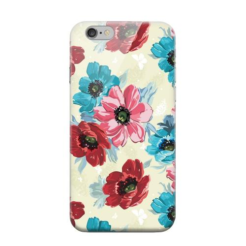 Geeks Designer Line (GDL) Apple iPhone 6 Matte Hard Back Cover - Blue/ Red Floral