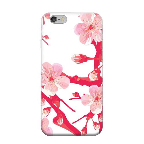 Geeks Designer Line (GDL) Apple iPhone 6 Matte Hard Back Cover - Hot Pink Cherry Blossom