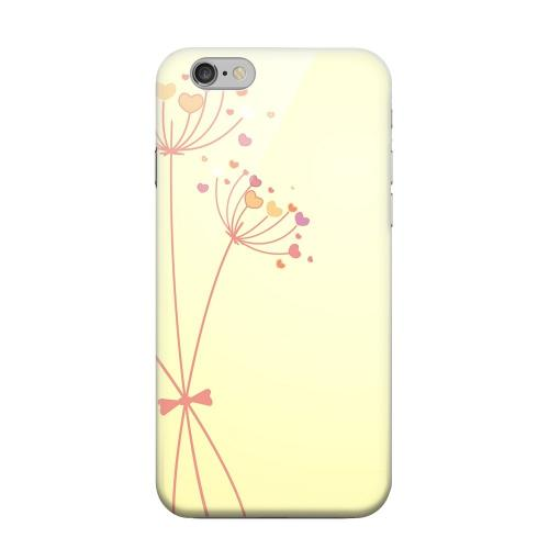 Geeks Designer Line (GDL) Apple iPhone 6 Matte Hard Back Cover - Dandelion Hearts on Yellow