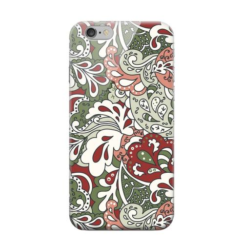 Geeks Designer Line (GDL) Apple iPhone 6 Matte Hard Back Cover - Green/ Red/ Pink Paisley