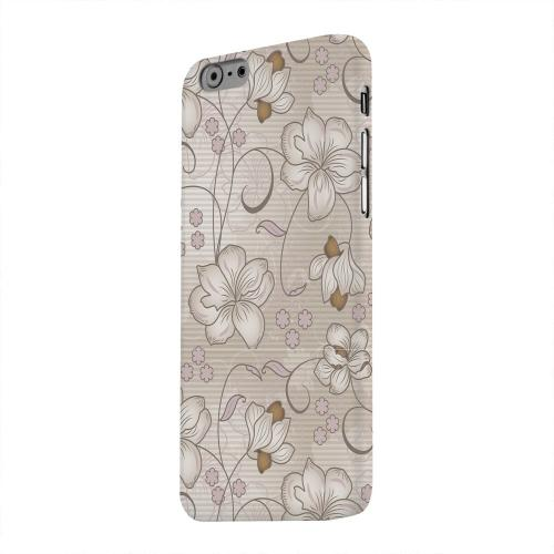 Geeks Designer Line (GDL) Apple iPhone 6 Matte Hard Back Cover - Floral Stripes Linen