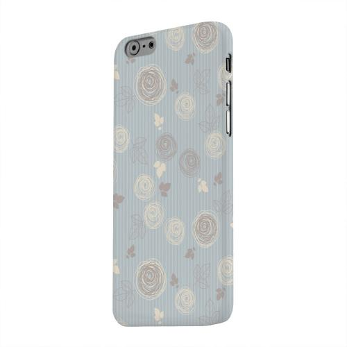 Geeks Designer Line (GDL) Apple iPhone 6 Matte Hard Back Cover - Leaves Scribble Blue/ Brown