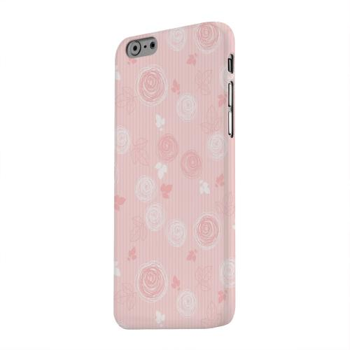 Geeks Designer Line (GDL) Apple iPhone 6 Matte Hard Back Cover - Leaves Scribble Pinkish