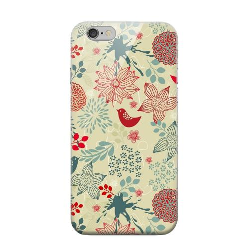 Geeks Designer Line (GDL) Apple iPhone 6 Matte Hard Back Cover - Lovebird Floral Splatter