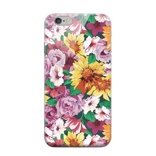 Geeks Designer Line (GDL) Apple iPhone 6 Matte Hard Back Cover - Pink/ Orange Flowers