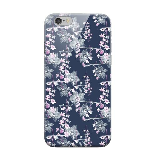 Geeks Designer Line (GDL) Apple iPhone 6 Matte Hard Back Cover - Pink/ White Floral on Blue