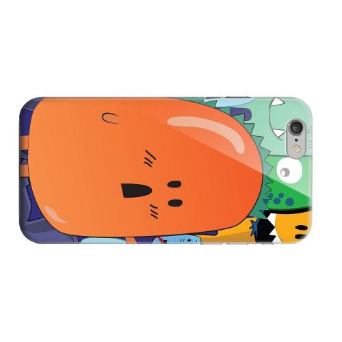 Geeks Designer Line (GDL) Apple iPhone 6 Matte Hard Back Cover - ZORGBLATS Orange Moob Close-Up