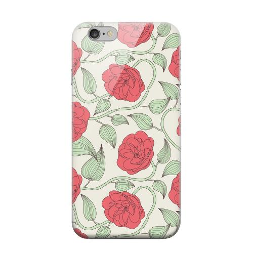 Geeks Designer Line (GDL) Apple iPhone 6 Matte Hard Back Cover - Roses & Vines