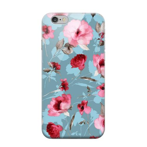 Geeks Designer Line (GDL) Apple iPhone 6 Matte Hard Back Cover - Vintage Watercolor Roses