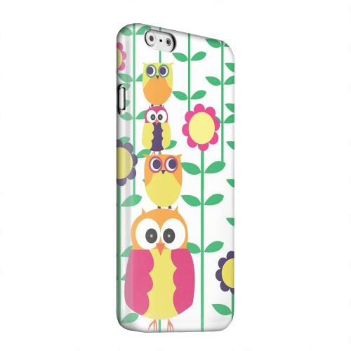 Geeks Designer Line (GDL) Apple iPhone 6 Matte Hard Back Cover - Colorful Owl Tower