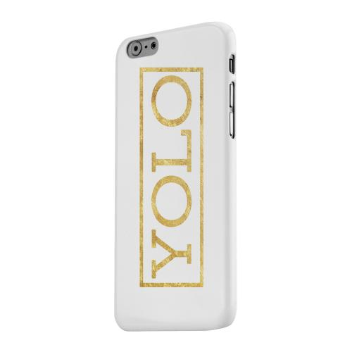 Geeks Designer Line (GDL) Apple iPhone 6 Matte Hard Back Cover - Gold YOLO