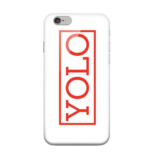 Geeks Designer Line (GDL) Apple iPhone 6 Matte Hard Back Cover - Red YOLO