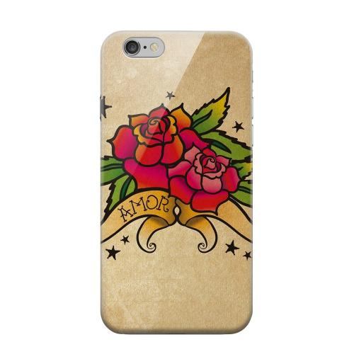 Geeks Designer Line (GDL) Apple iPhone 6 Matte Hard Back Cover - Armor Rose Grunge