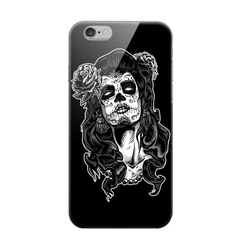 Geeks Designer Line (GDL) Apple iPhone 6 Matte Hard Back Cover - Day of the Dead Girl on Black