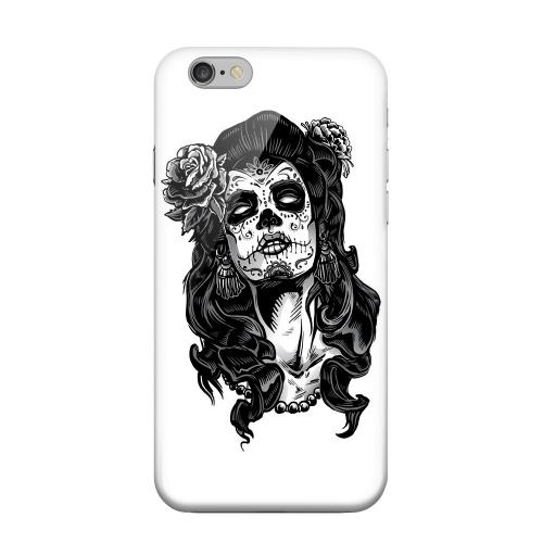 Geeks Designer Line (GDL) Apple iPhone 6 Matte Hard Back Cover - Day of the Dead Girl on White