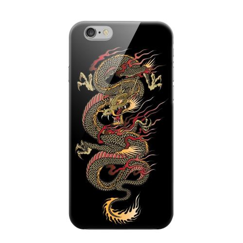Geeks Designer Line (GDL) Apple iPhone 6 Matte Hard Back Cover - Dragon on Black