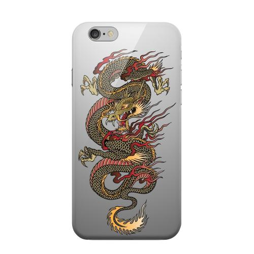 Geeks Designer Line (GDL) Apple iPhone 6 Matte Hard Back Cover - Dragon on Gray Gradient