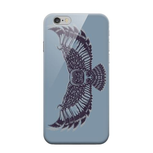Geeks Designer Line (GDL) Apple iPhone 6 Matte Hard Back Cover - Flying Owl Blue/ Gray