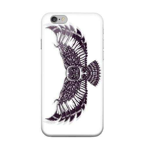 Geeks Designer Line (GDL) Apple iPhone 6 Matte Hard Back Cover - Flying Owl on White